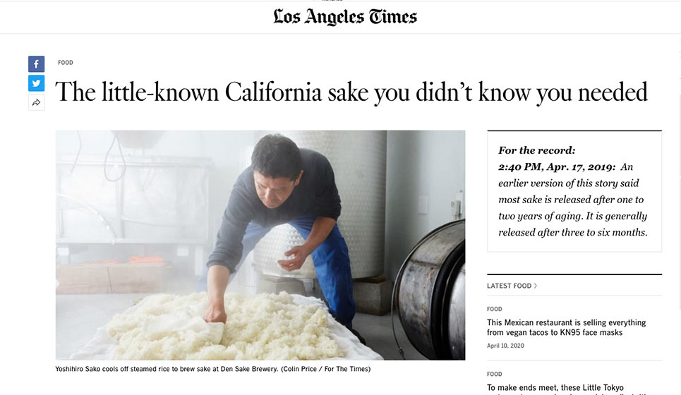 Los Angeles Times: 17 April 2019