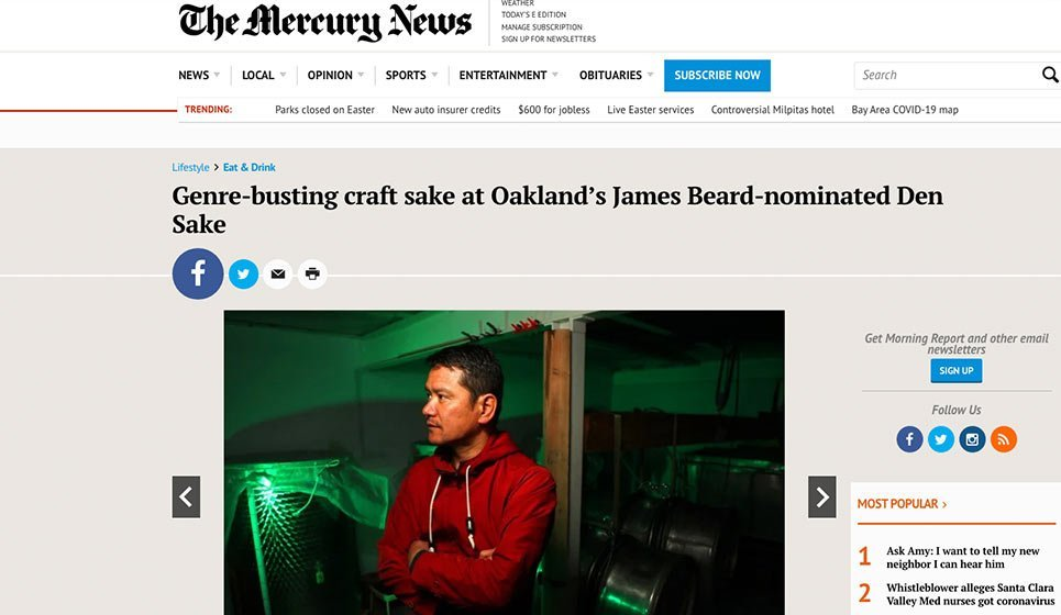 San Jose Mercury News: 24 April 2019